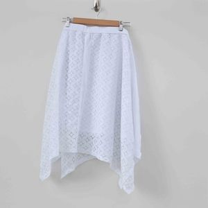 Maurice's Plus Size White Lace Midi A Line Skirt